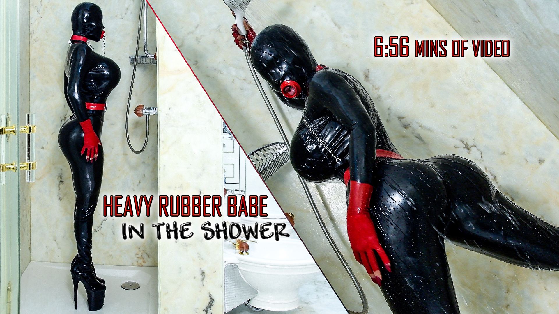 Heavy Rubber Babe in the Shower